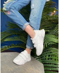 Женские кроссовки белого цвета 1011-01