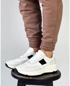 Мужские кожаные кроссовки 0017-01