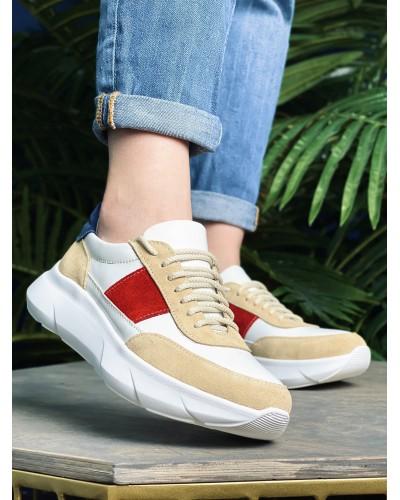 Жіночі шкіряні кросівки cori-06 кольорові