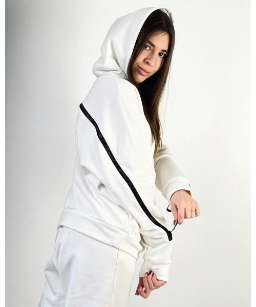 Женский спортивный костюм №1 Змейка (белый)