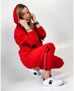 Женский спортивный костюм №2 Змейка (красный)