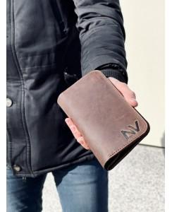 Мужское портмоне 207 (Crazy Horse коричневый)