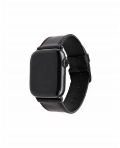 Ремешок ручной работы для Apple Watch из итальянской кожи Buttero черного цвета