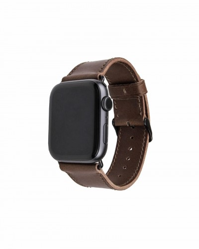 Ремешок ручной работы для Apple Watch из итальянской кожи Buttero коричневого цвета