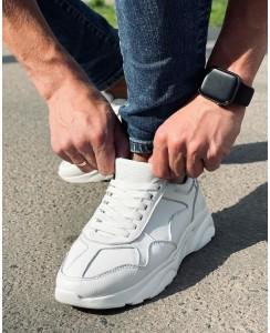 Мужские белые кроссовки 0002-05