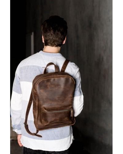 Кожаный Коричневый Рюкзак 511