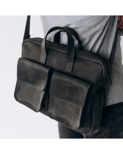 Мужская деловая сумка из кожи