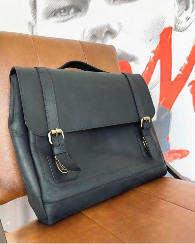 Мужская сумка для документов или ноутбука из кожи