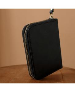 Кожаный мужской кошелек арт. 216 Mid черного цвета