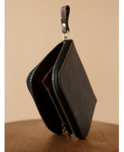 Кожаный кошелек 216 Mid коричневого цвета
