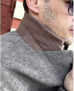 Мужское шерстяное пальто 7010-1