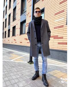Мужское шерстяное пальто 7010-2