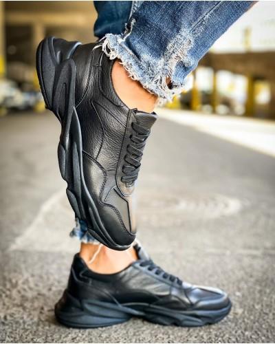 Мужские черные кроссовки 0002-04