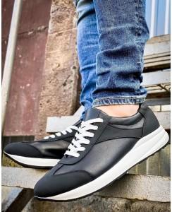 Мужские кожаные кроссовки 0015-02