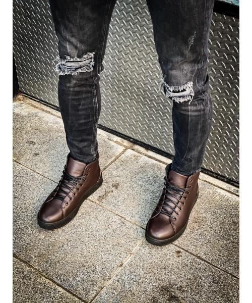 Мужские коричневые ботинки 2002-02
