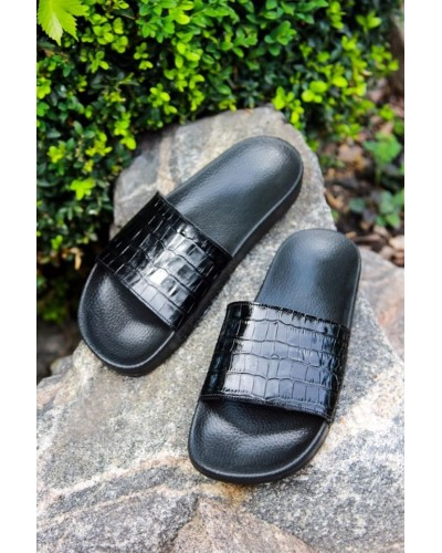 Кожаные тапочки (крокодил)