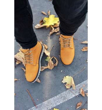 Ботинок оранжевый (Нубук)