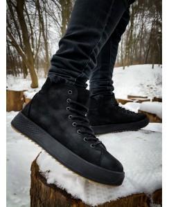 Ботинок черные (Нубук)