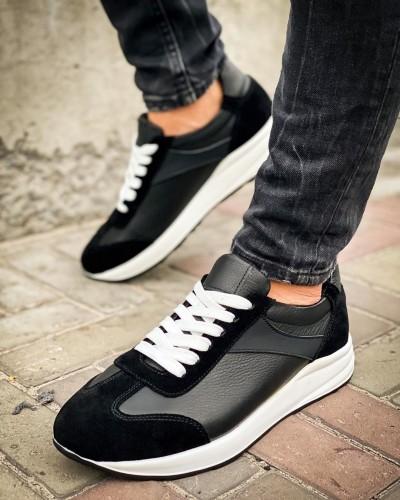 Мужские кожаные кроссовки 0015-01